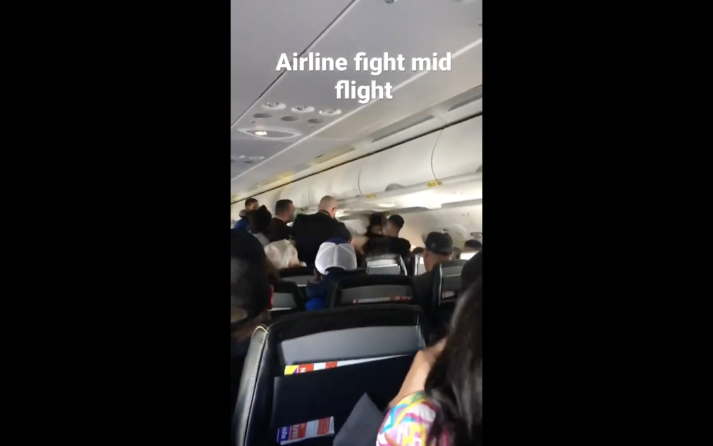 Fight Breaks Out on Airplane Mid-flight!